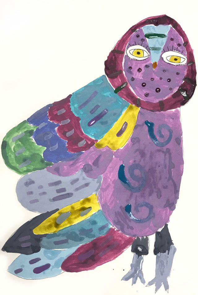 Owl Painting Project // www.smallhandsbigart.com
