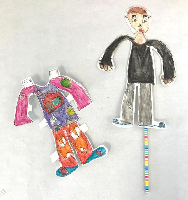 Paper Characters // www.smallhandsbigart.com
