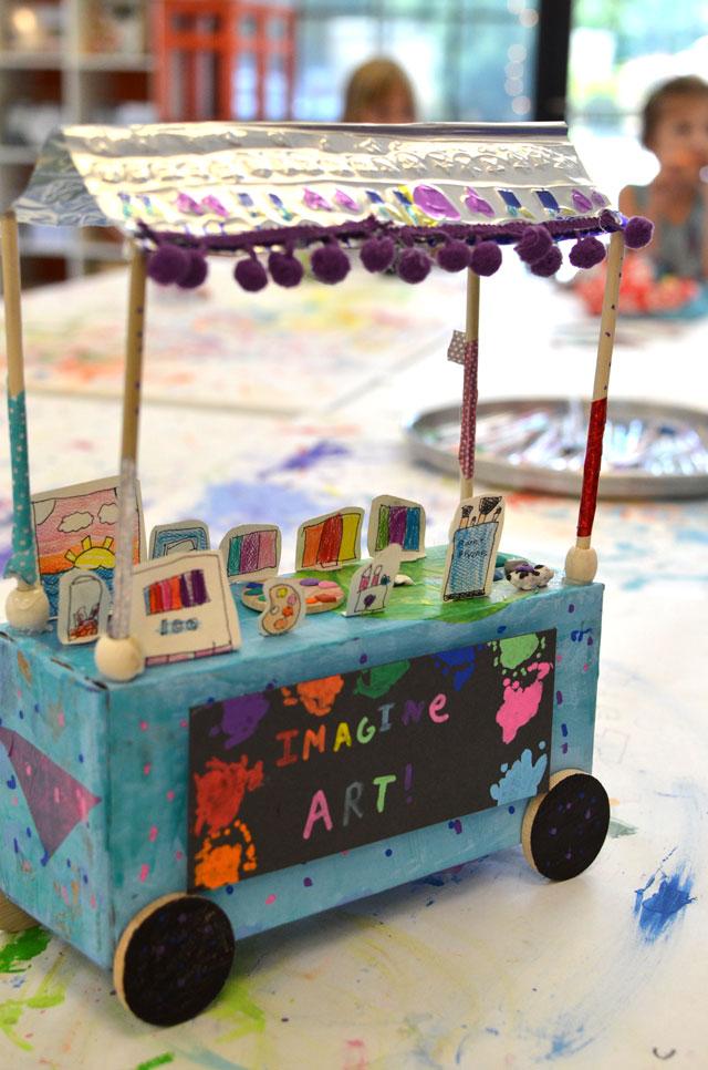 Flea Market Cart Art Project / www.smallhandsbigart.com