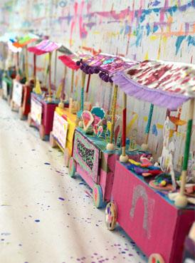3D Flea Market Cart Art Project for Kids