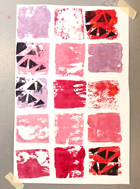 Collagraph Printmaking with Kids Using Wooden Blocks
