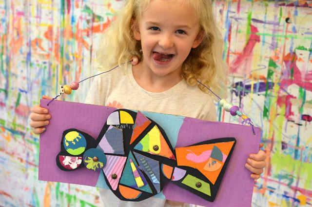 Mixed Media Art Classes for Kids - Small Hands Big Art Fort Mill SC