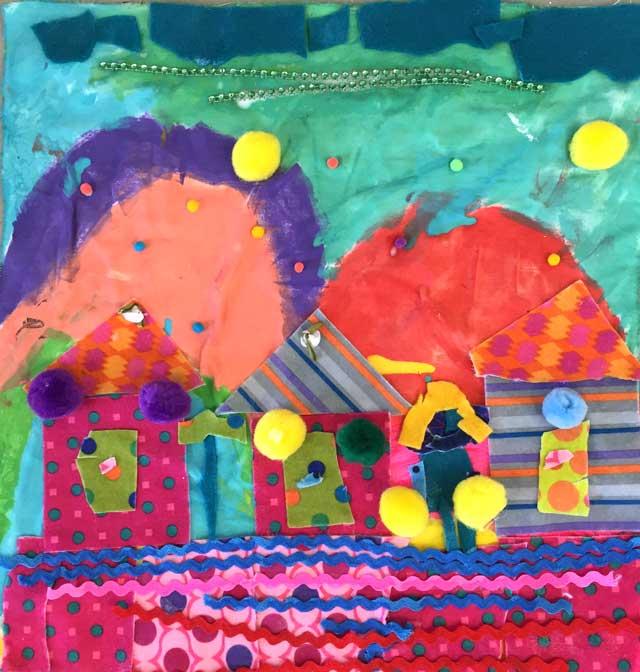 Folk Art Arpillera // www.smallhandsbigart.com