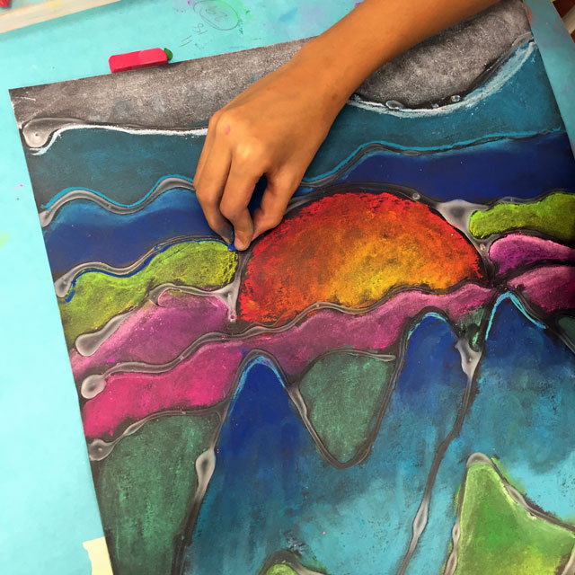 Chalk Landscapes | small hands big art