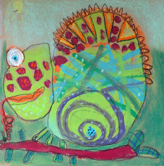 chameleon in a box | www.smallhandsbigart.com