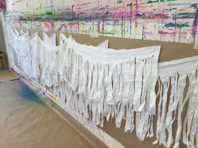 Fringe Fabric Wall | www.smallhandsbigart.com