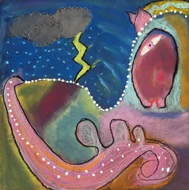 Laurel Burch inspired horse | www.smallhandsbigart.com
