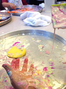 oobleck fun | www.smallhandsbigart.com/blog