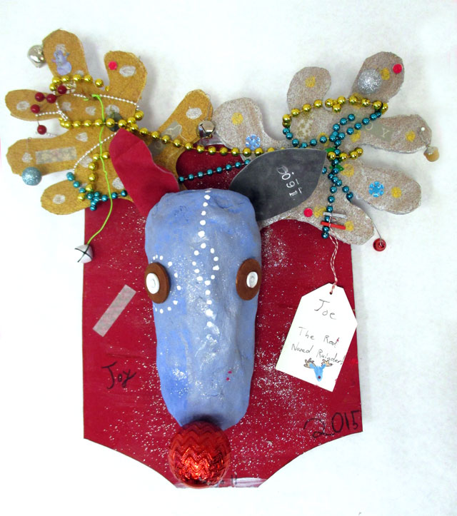 Reindeer Wall Sculpture Workshop | www.smallhandsbigart.com