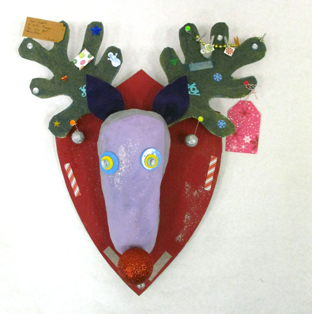 Reindeer Wall Sculpture | www.smallhandsbigart.com