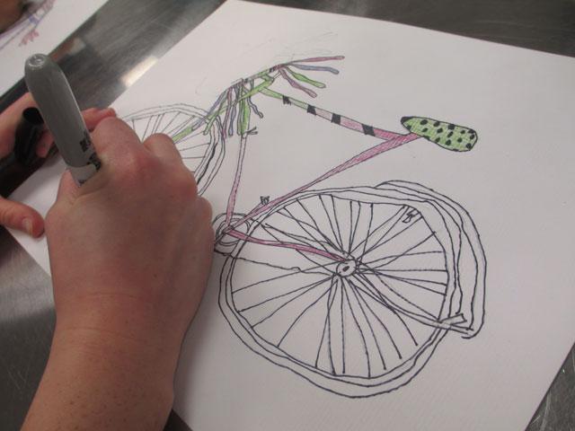 bicycle illustration | www.smallhandsbigart.com
