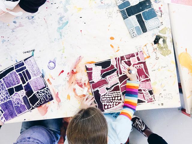 Lisa Congdon inspired designs / www.smallhandsbigart.com