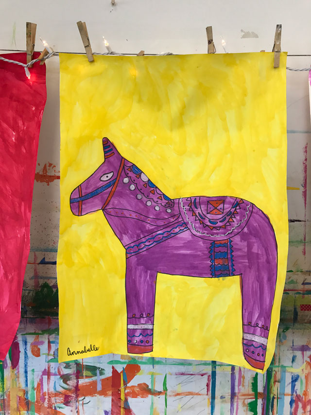 Dala Horse Painting Lesson / www.smallhandsbigart.com