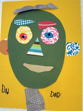 Decoupage Collage Portraits for Father's Day