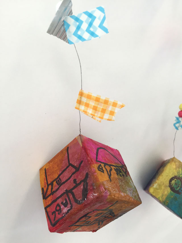 Thanksgiving Mobiles Art Project for kids