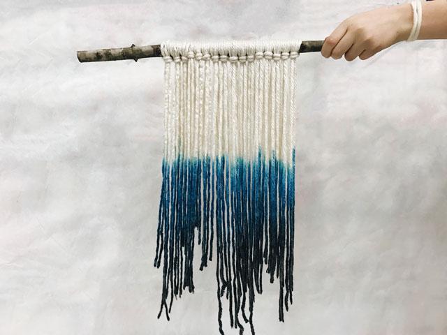 Dip Dye Tapestry / www.smallhandsbigart.com