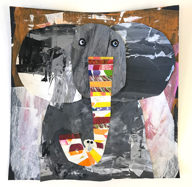 Melanie Mikecz Inspired Elephant Collage // www.smallhandsbigart.com