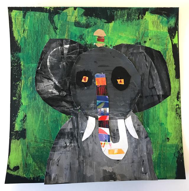 Melanie Mikecz Inspired Elephant Collage // www.smallhandsbigart.com