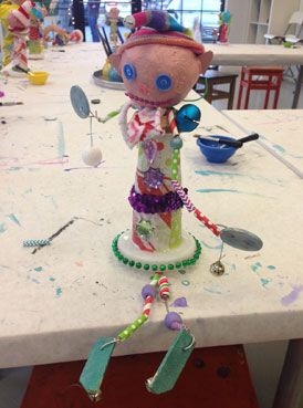 Christmas Mixed Media Elves | Holiday Workshop | www.smallhandsbigart.com