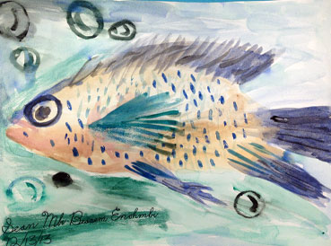 watercolor fish | www.smallhandsbigart.com/blog