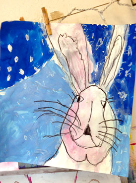 winter hares | www.smallhandsbigart.com/blog