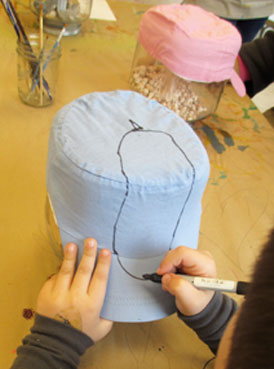 Hat Art Project for Kids | www.smallhandsbigart.com/blog