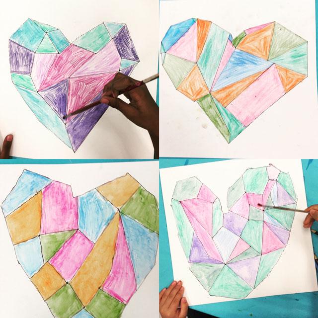 Geometric Heart | www.smallhandsbigart.com