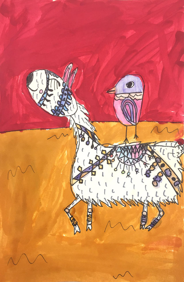 Llama Drawing Project // www.smallhandsbigart.com