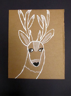 monochromatic deer | www.smallhandsbigart.com/blog