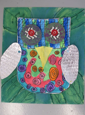 3D Mixed Media Owls | www.smallhandsbigart.com/blog
