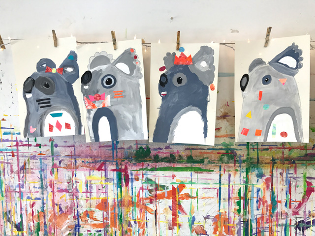 Pete Cromer Inspired Koala Painting Project // www.smallhandsbigart.com