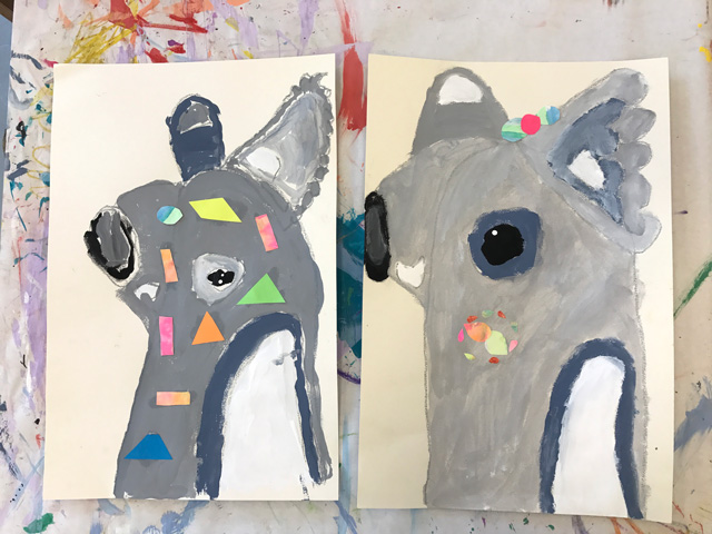 Pete Cromer Inspired Koala Painting Project// www.smallhandsbigart.com
