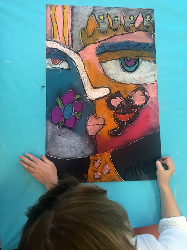 Sandra Silberzweig Self Portraits | small hands big art