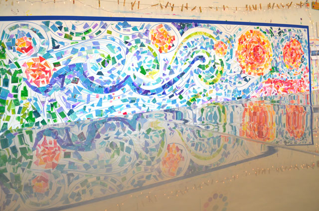 Sticky Wall Mosaic // www.smallhandsbigart.com