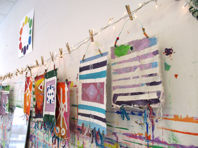 Art Summer Camp in Charlotte, NC // tapestries | www.smallhandsbigart.com