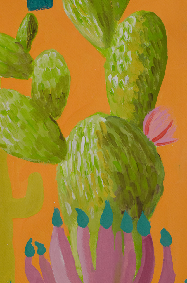 Southwest Cacti Painting Project // www.smallhandsbigart.com