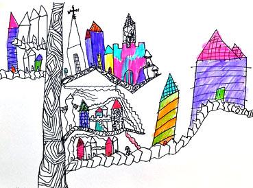 Sarah Hennessey Tree Towns   www.smallhandsbigart.com/blog