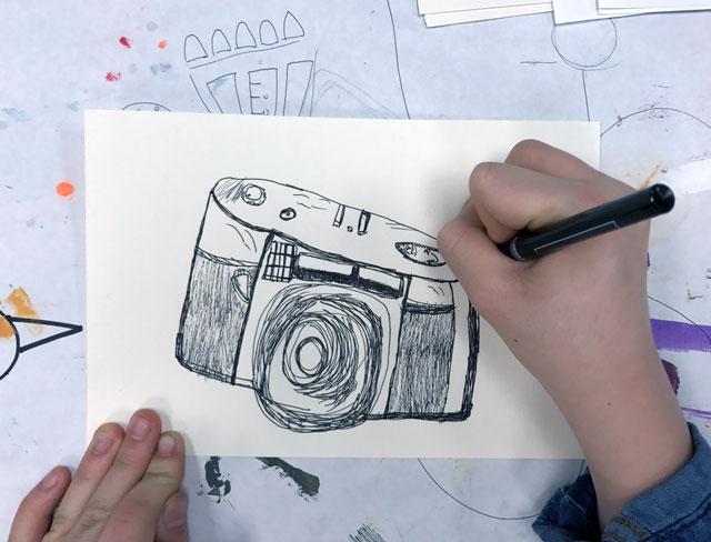 Vintage Camera Illustration / www.smallhandsbigart.com