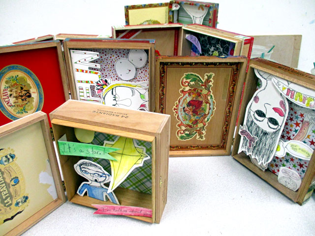 Kim Welling Inspired Shadow Boxes | small hands big art