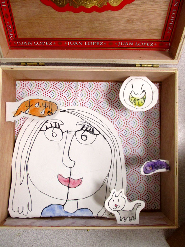 Kim Welling Inspired Shadow Box | small hands big art