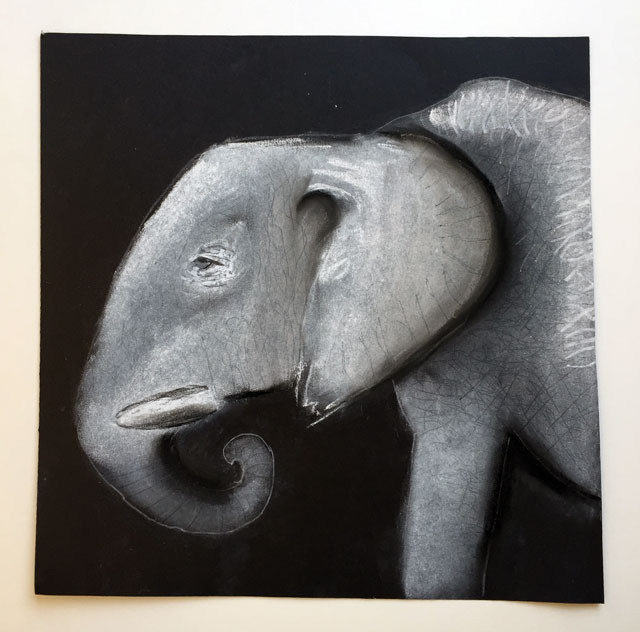 Black & White Chalk Pastel Drawing | www.smallhandsbigart.com