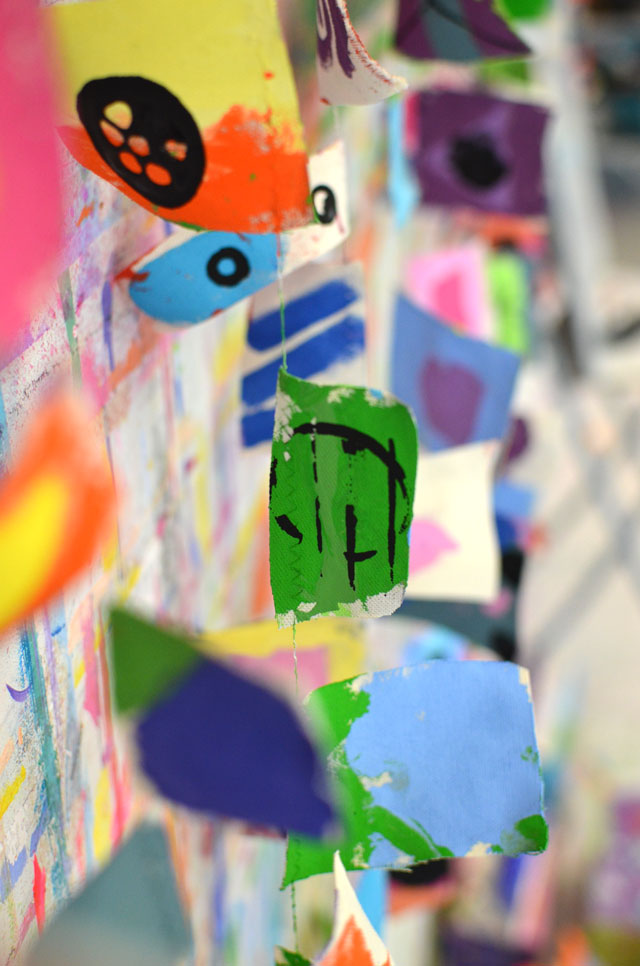 Painted Garland // Small Hands Big Art