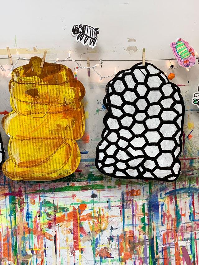 bumblebees / small hands big art