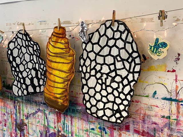 beehives / small hands big art