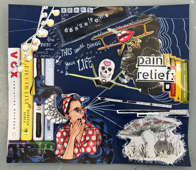Surreal Collage art project for teens