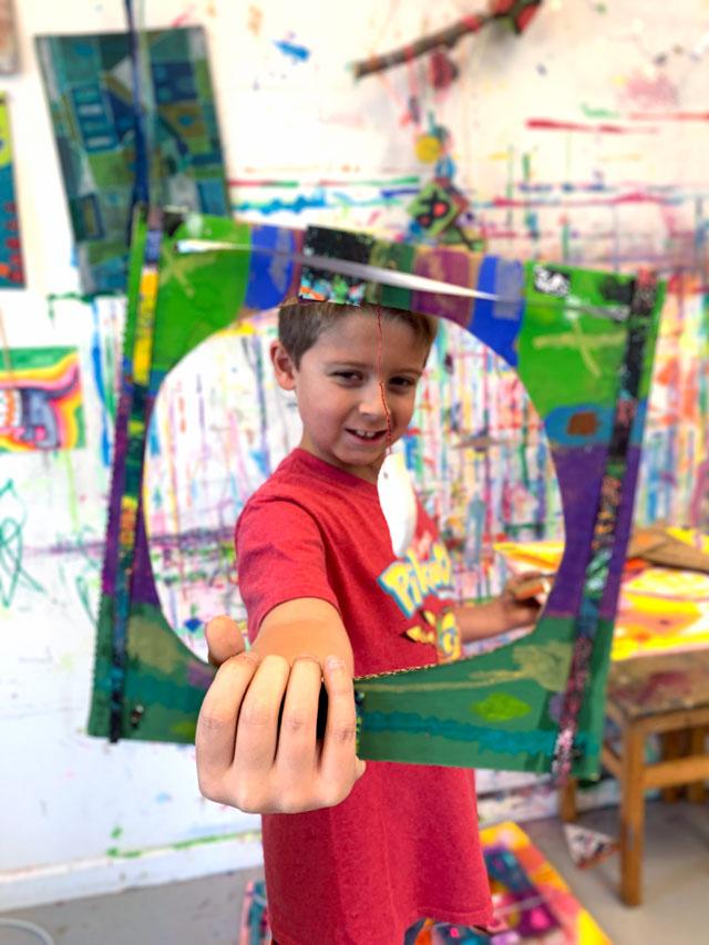 3D Cardboard sculpture from Small Hands Big Art