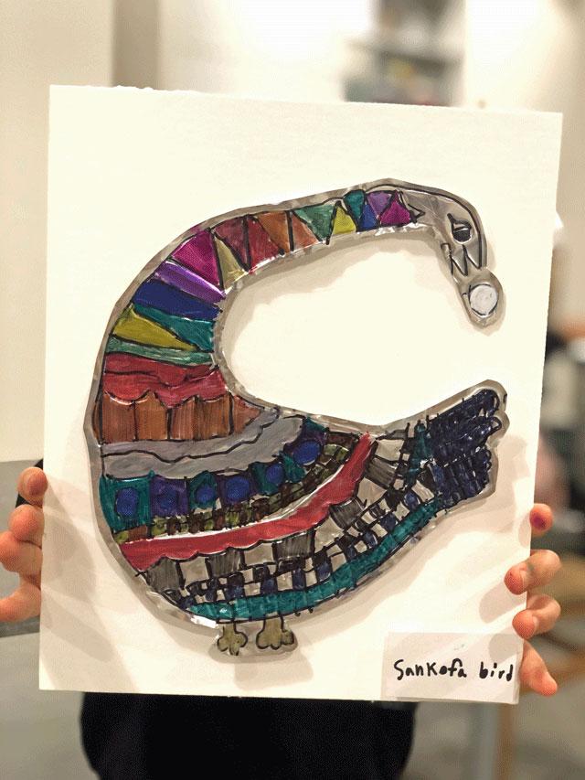 Sankofa Bird / Small Hands Big Art