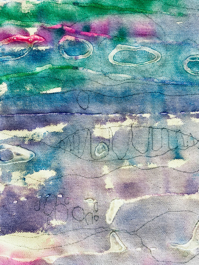 Seascape Textile Painting / Small Hands Big Art