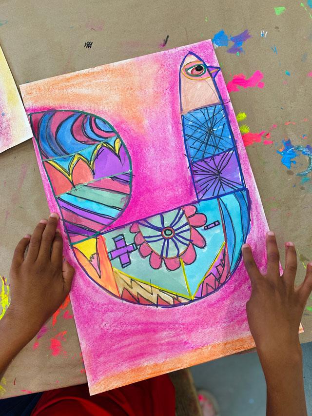 Sanna Annukka Inspired Bird Art Lesson for Kids