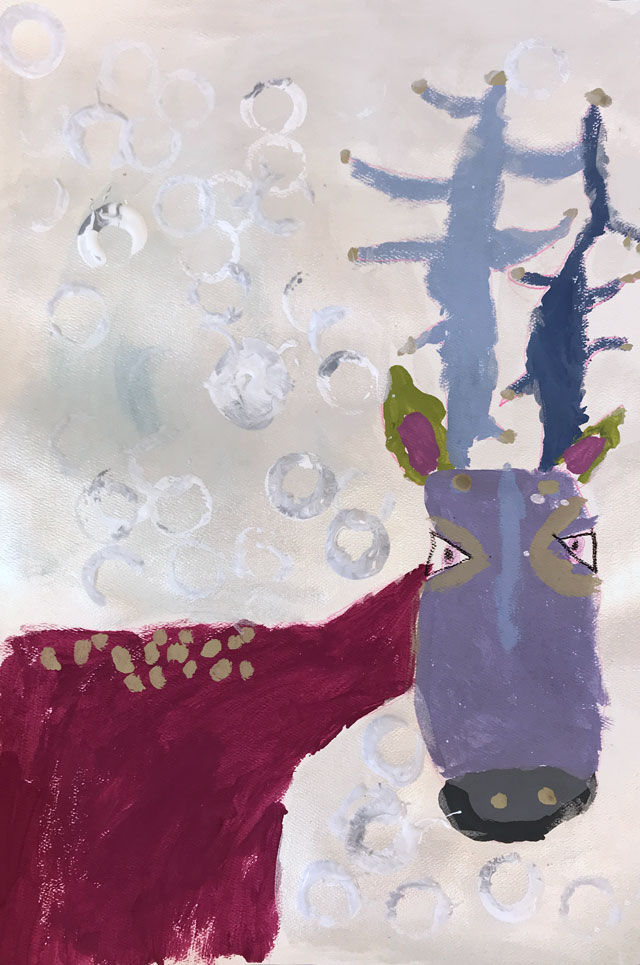 Winter Reindeer // www.smallhandsbigart.com